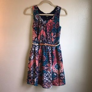 By & By Patterned Dress
